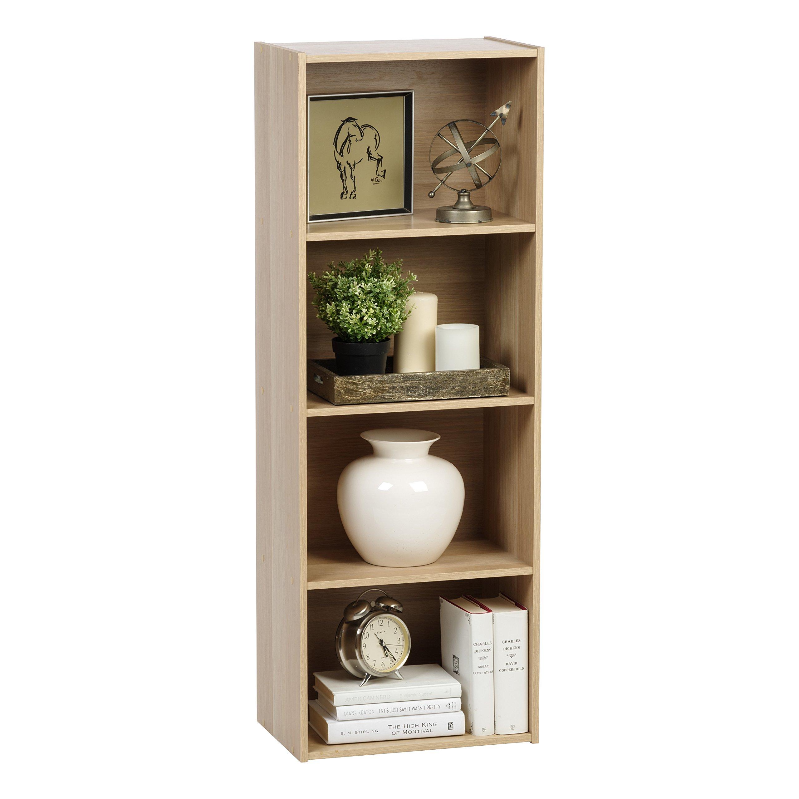 IRIS 4-Tier Wood Storage Shelf, Light Brown