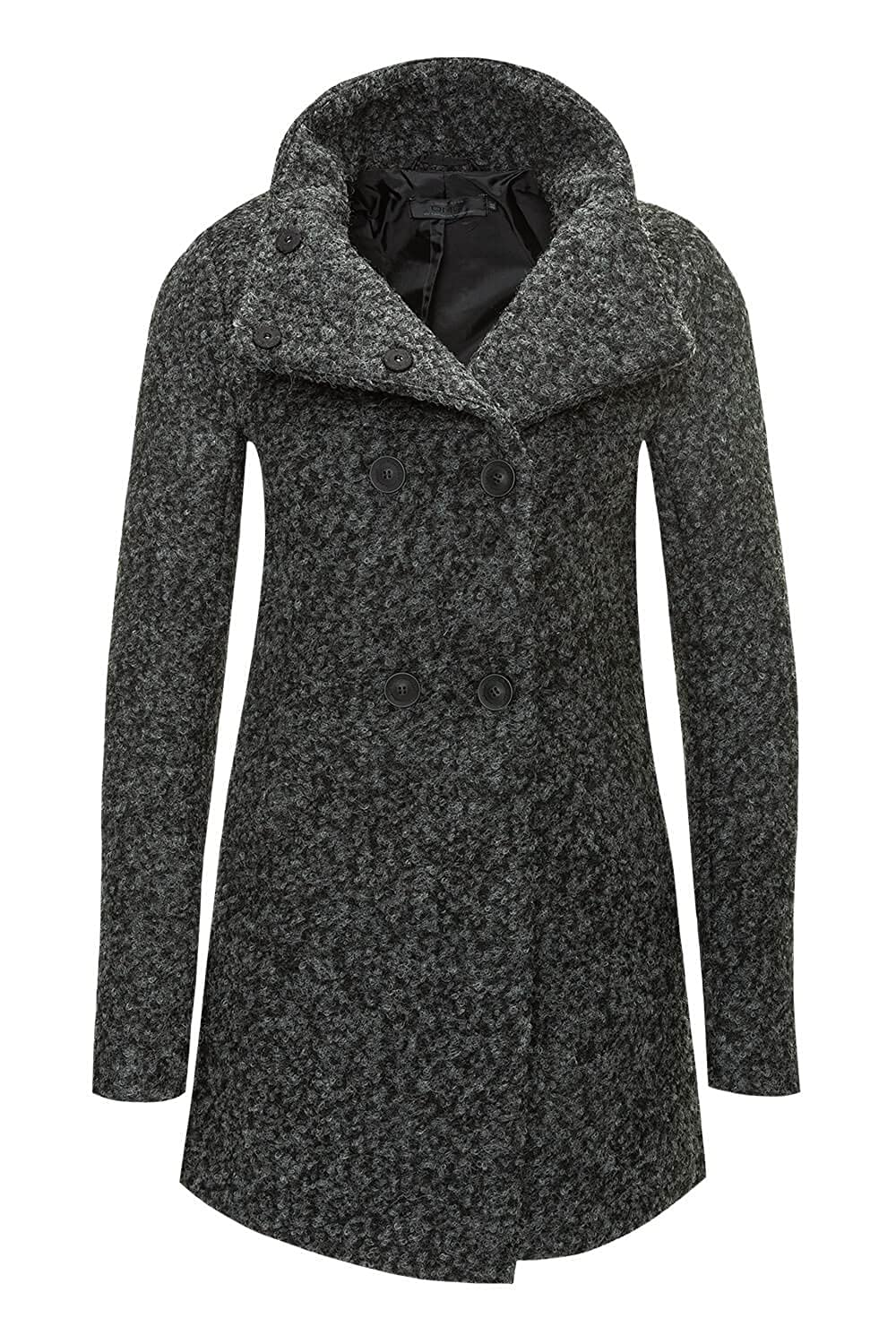 Only Damen Wollmantel Kurzmantel Winterjacke