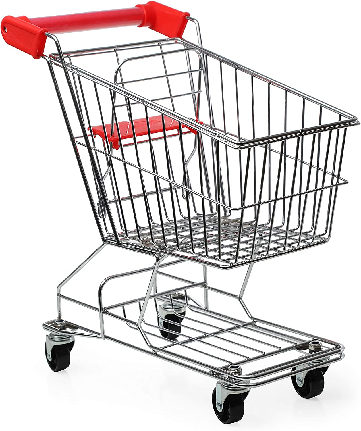 Mommy and Me Shopping Cart for Kids, Pretend Play- Grocery and Supermarket Food Shopping, Made with Heavy Metal Frame