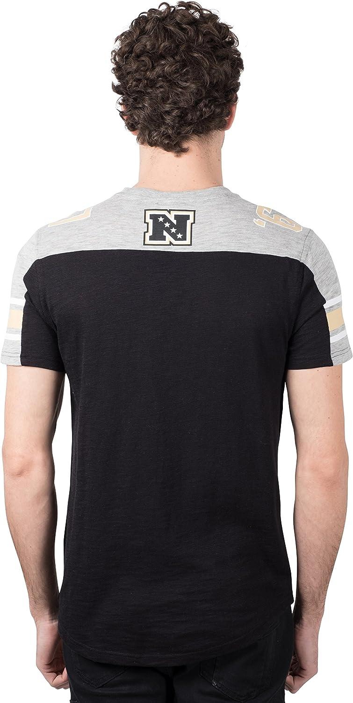 Ultra Game NFL Mens Slub Jersey Crew Neck Tee Shirt