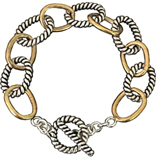 6f403986ef1f4 Designer Inspired 18k White and Yellow Gold Plated Chain Cable Twisted Link  Bracelet Valentine s Day Gift