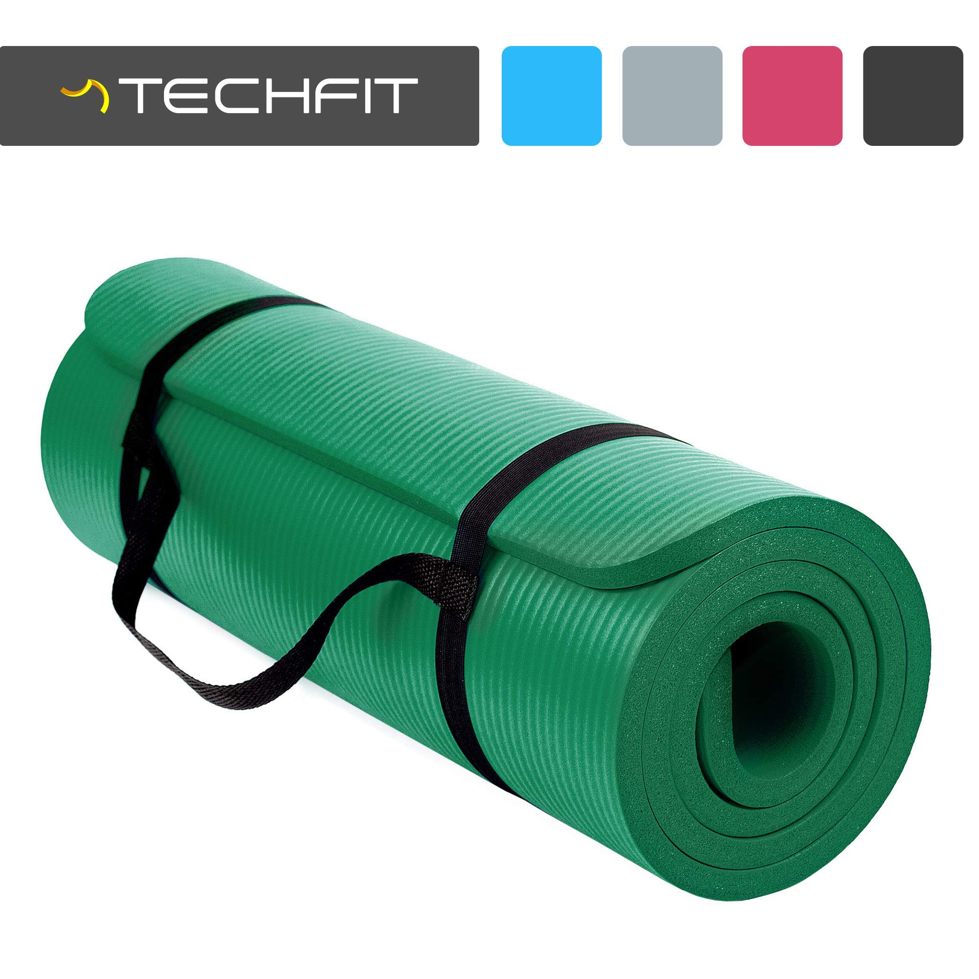 TechFit TC97506GREEN - Esterilla de Fitness para Adultos, Unisex, Verde, Talla única product