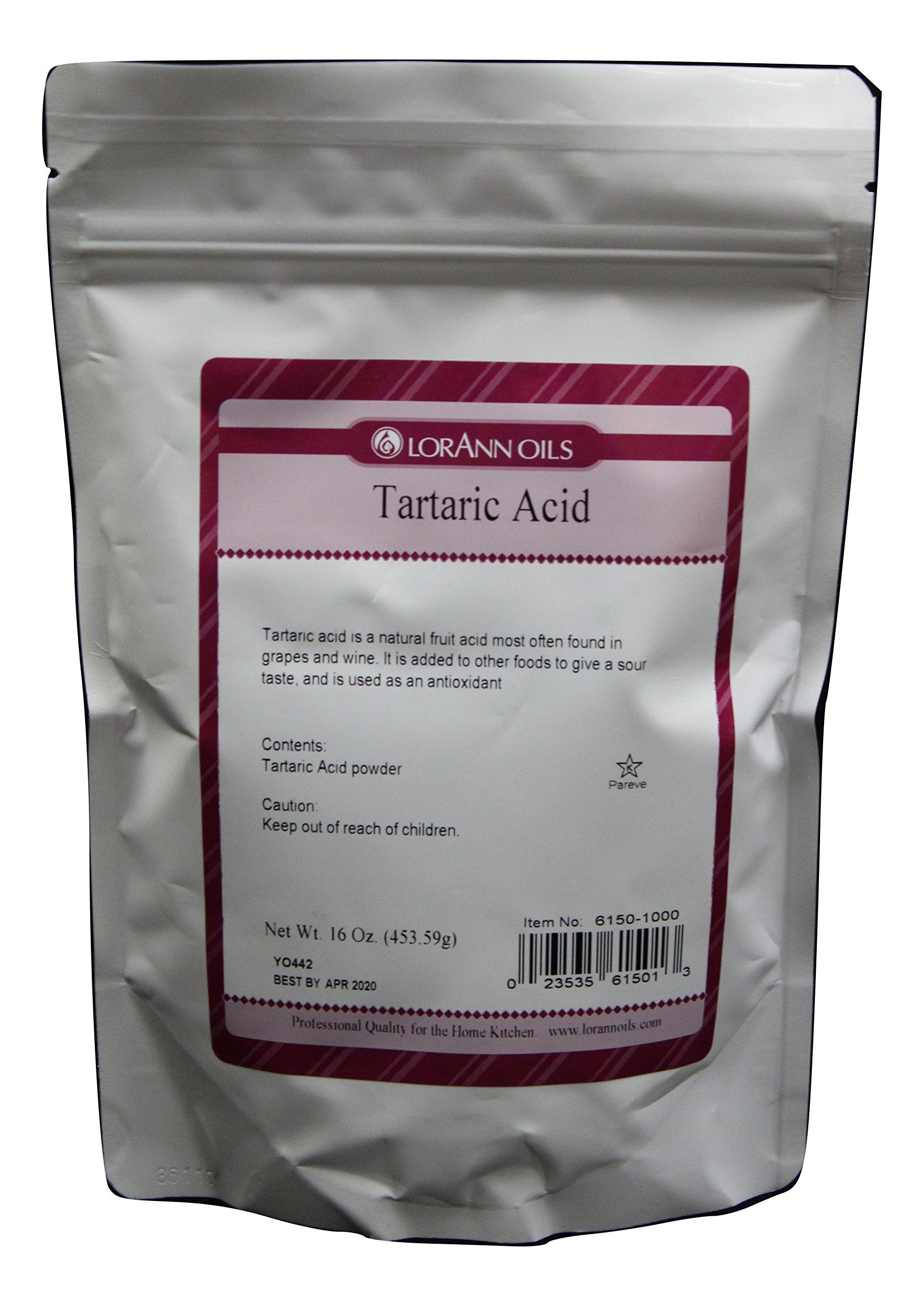 Tartaric Acid 16 Ounce, LorAnn