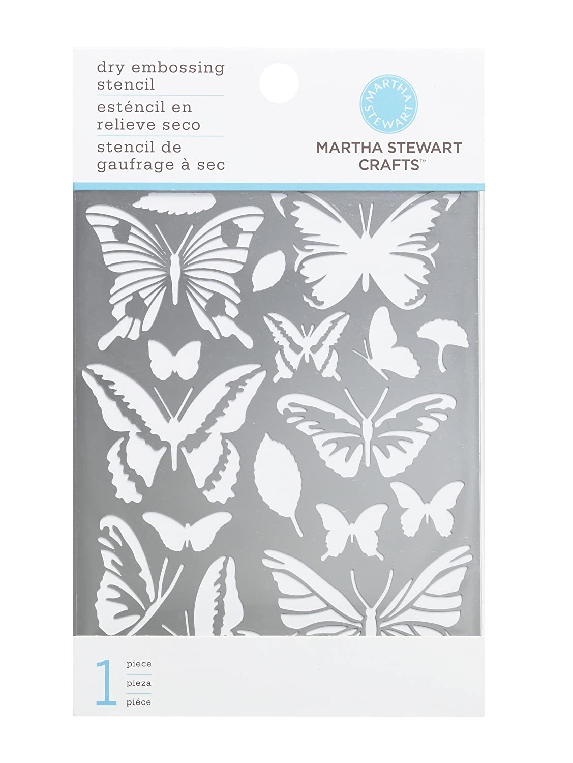 Amazon.com: Martha Stewart Crafts Butterfly Embossing Stencils