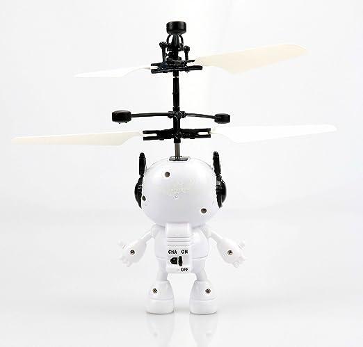 Volando Robot (Negro) - Super Held - Space Robot - Fácil controlar con la mano.El Juguete para adultos y niños.La Hitachi en Navidad 2017.