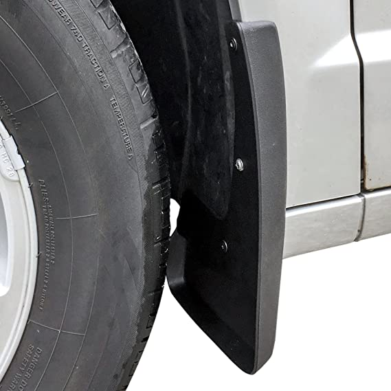 2008-2016 Chrysler Town /& Country w//o Running Boards Front 2pc Set Red Hound Auto Mud Flaps Splash Guards Compatible with 2008-2019 Dodge Grand Caravan