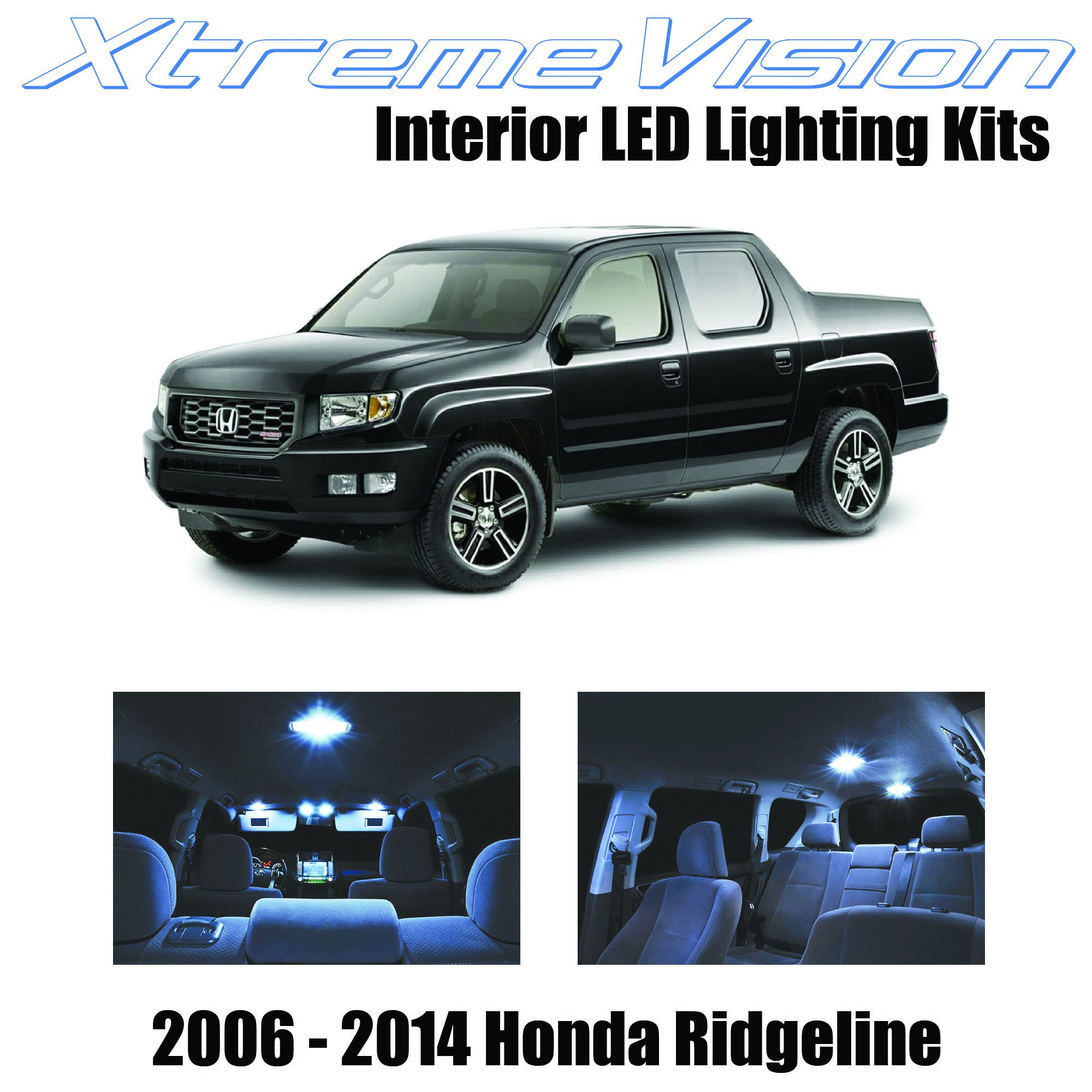 XtremeVision Interior LED for Honda Ridgeline 2006-2014 (18 Pieces) Cool White Interior LED Kit + Installation Tool