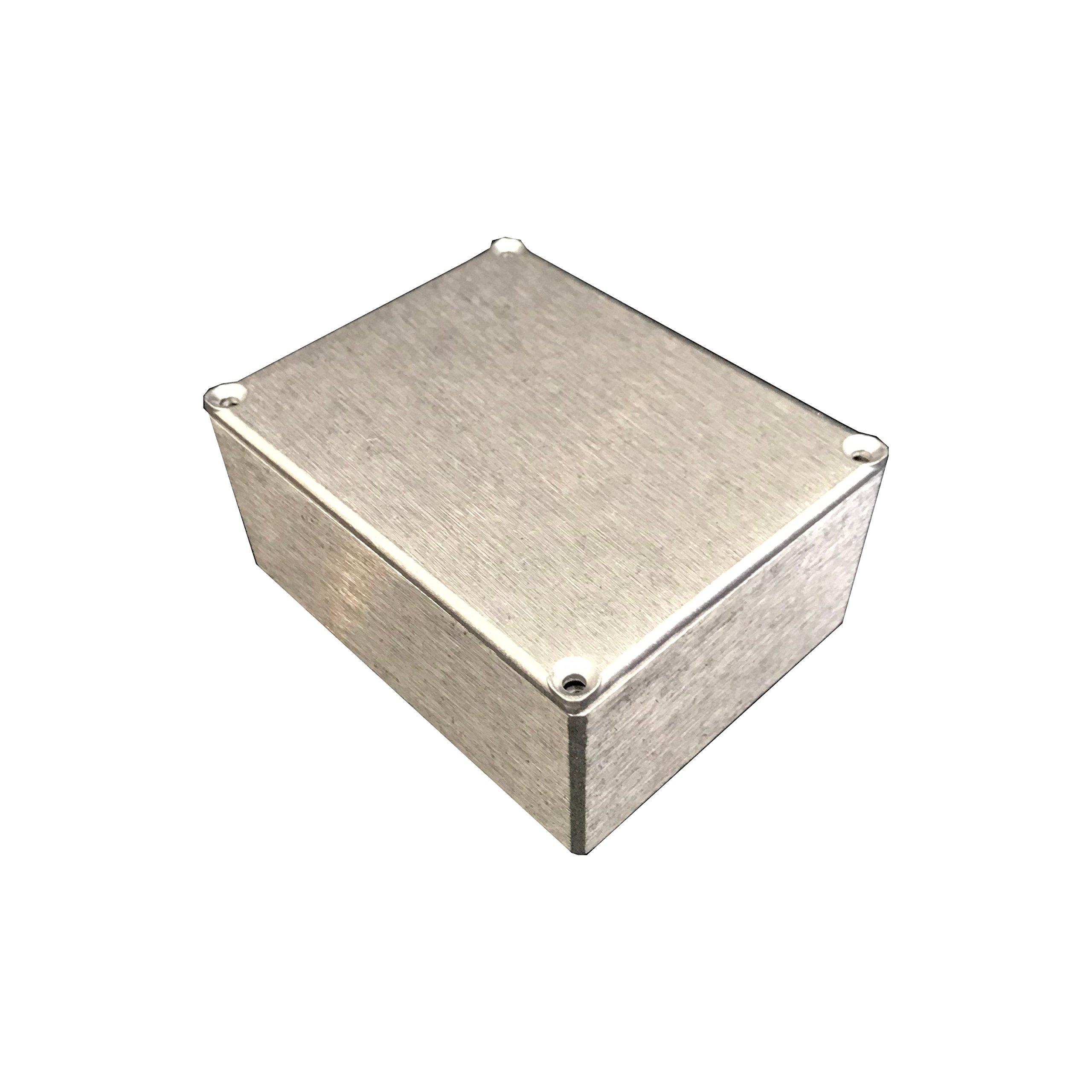 BUD Industries CU-234 Aluminum Econobox, 4-43/64'' Length x 3-43/64'' Width x 2-13/64'' Height, Natural Finish