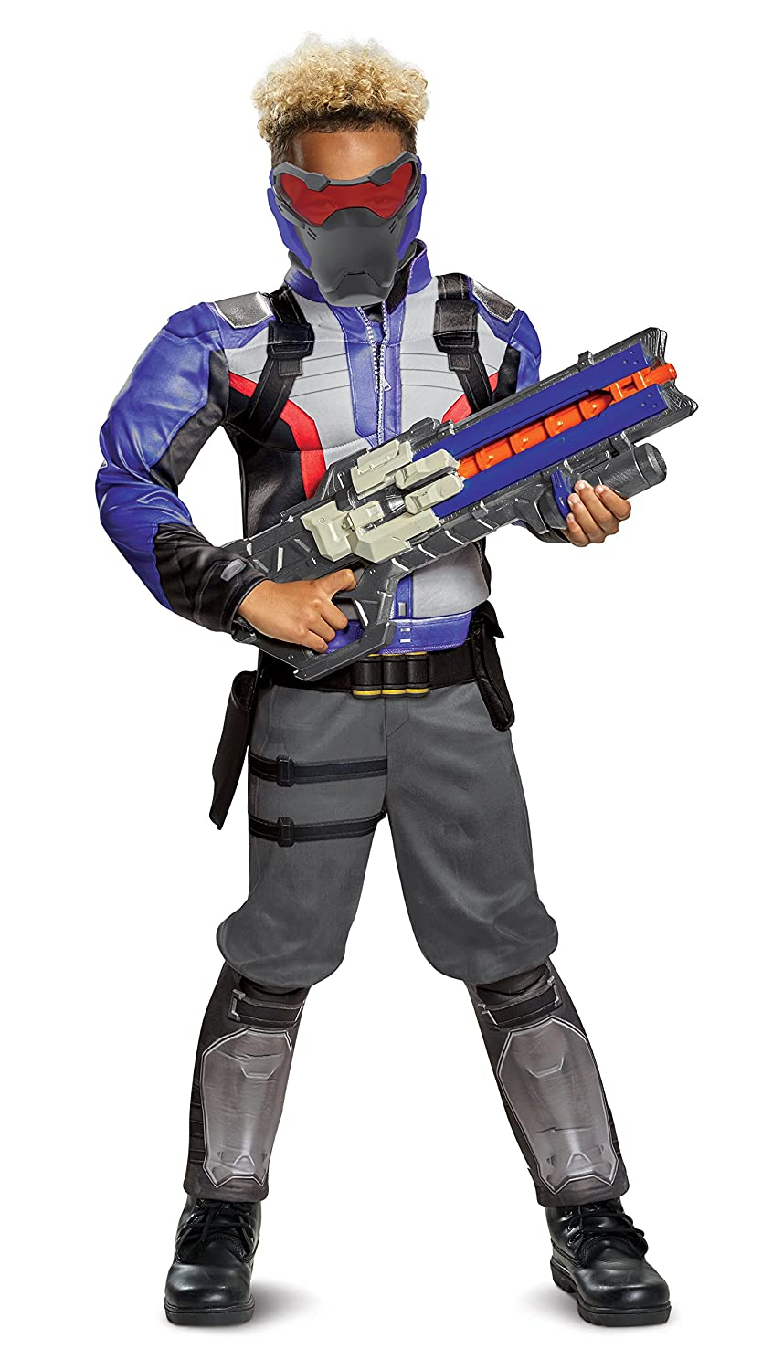 Overwatch Classic Soldier 76 Muscle Costume for Kids Disguise