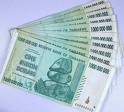 2008 AA//AB Circulated Zimbabwe 500 Thousand Dollars x 10 Pcs 100 Trillion Seri
