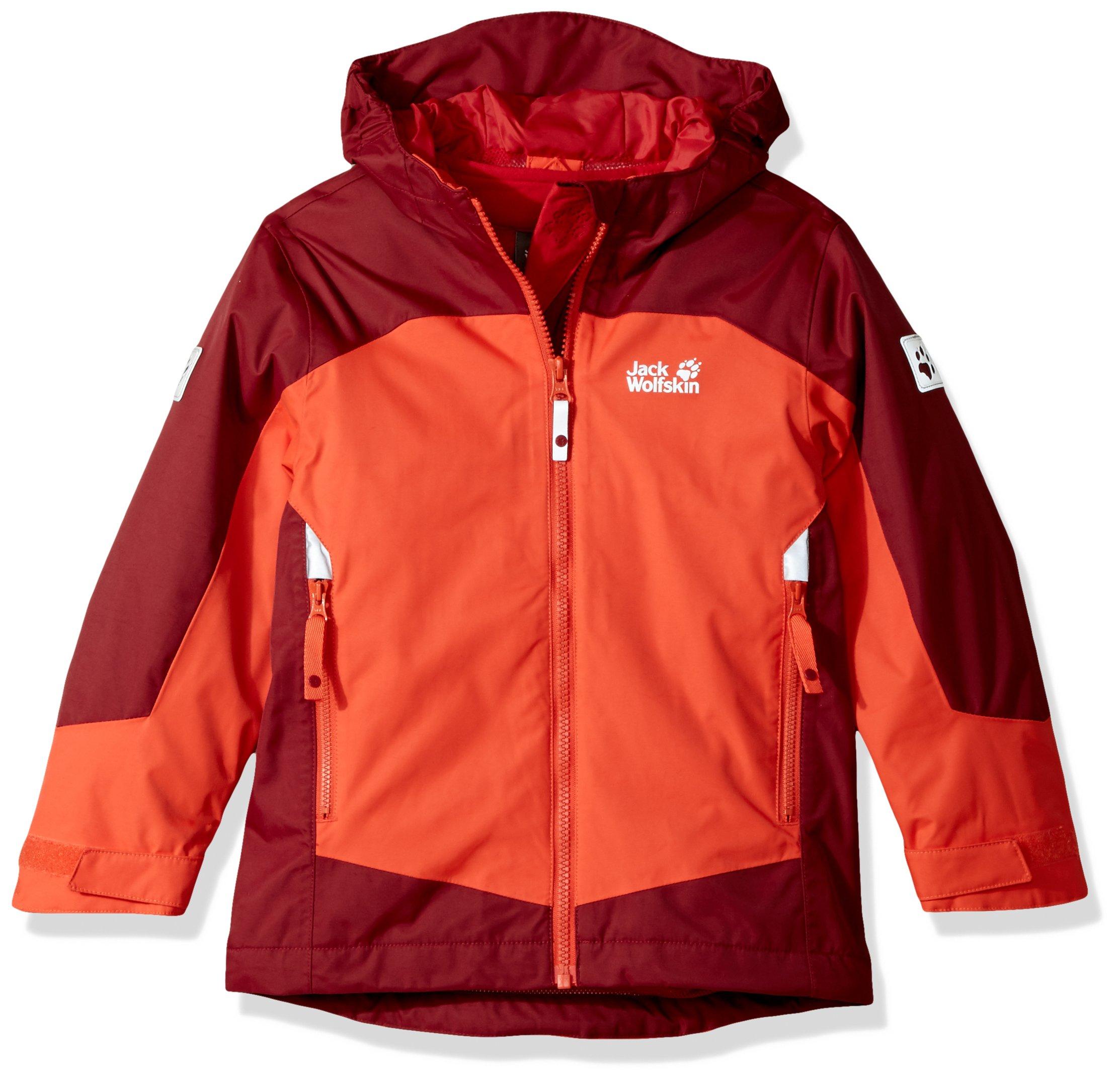 Jack Wolfskin Boy's Akka 3In1 Jacket, Lava Orange, Size 176 (14 Years)