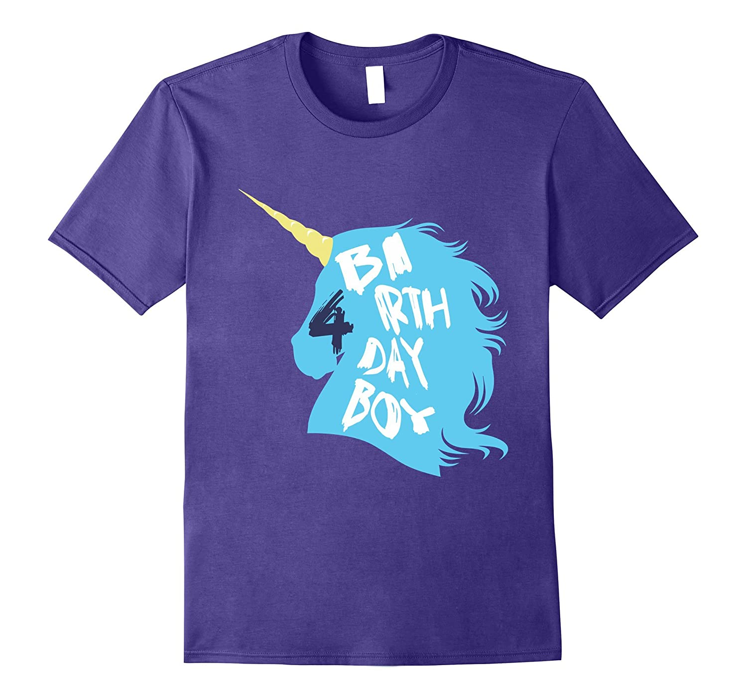 Birthday Boy 4 T Shirt Year Old Unicorn Tee Gm Ganamatee