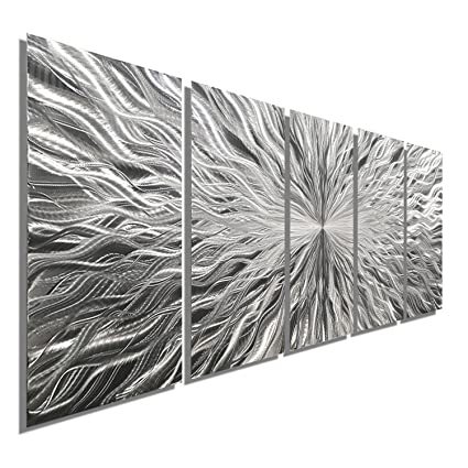 Amazon.com: Statements2000 Large Silver Metal Wall Art Sculpture ...