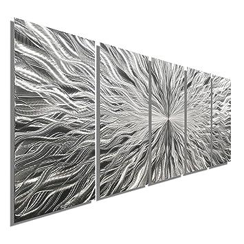 Amazon De Groß Silber Metall Wand Kunst Skulptur Wanddeko