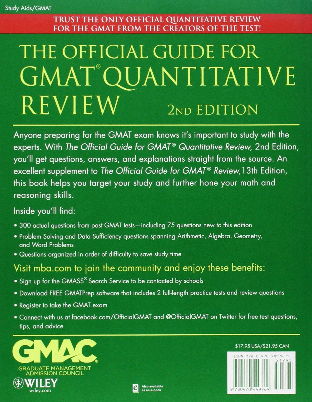 Official Guide For Gmat Quantitative Review Pdf