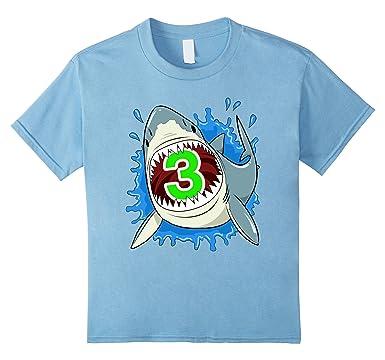 Amazon Kids 3rd Birthday Shark T Shirt
