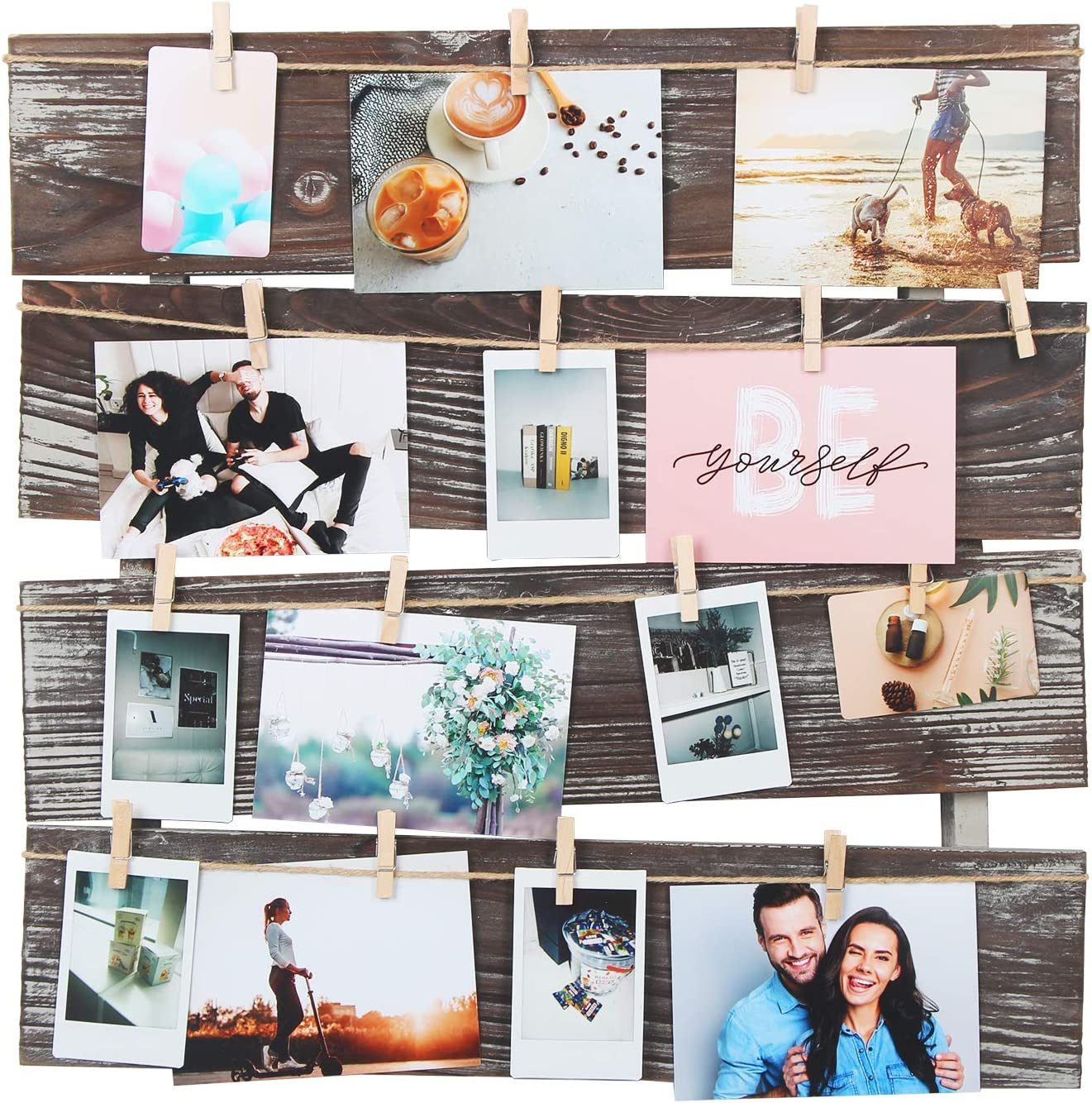 40 pictures Photo collage template 55 20x20 inches