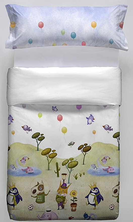 Don Algodon Kids.- Conjunto de funda nordica y almohada Slope ...