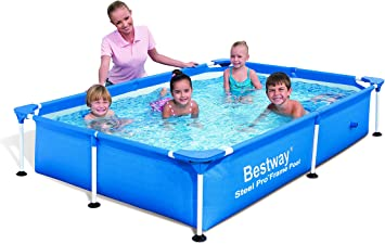 Bestway Splash Jr. Frame - Piscina Tubular, 221 x 150 x 43 cm ...