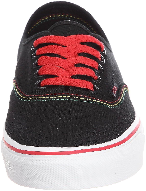 529686a487 Vans Authentic Trainers Unisex-Adult Black Schwarz ((Rasta) black red)  Size  38.5  Amazon.co.uk  Shoes   Bags