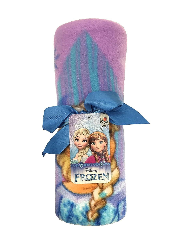 Official Disney Product Disney Frozen Lilac Diamond Plush 40 x 50 Travel Blanket with Ana /& Elsa