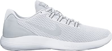 22f961bb68e Nike Men s Lunar Converge White Pure Platinum Wolf Grey Shoes- Medium   7