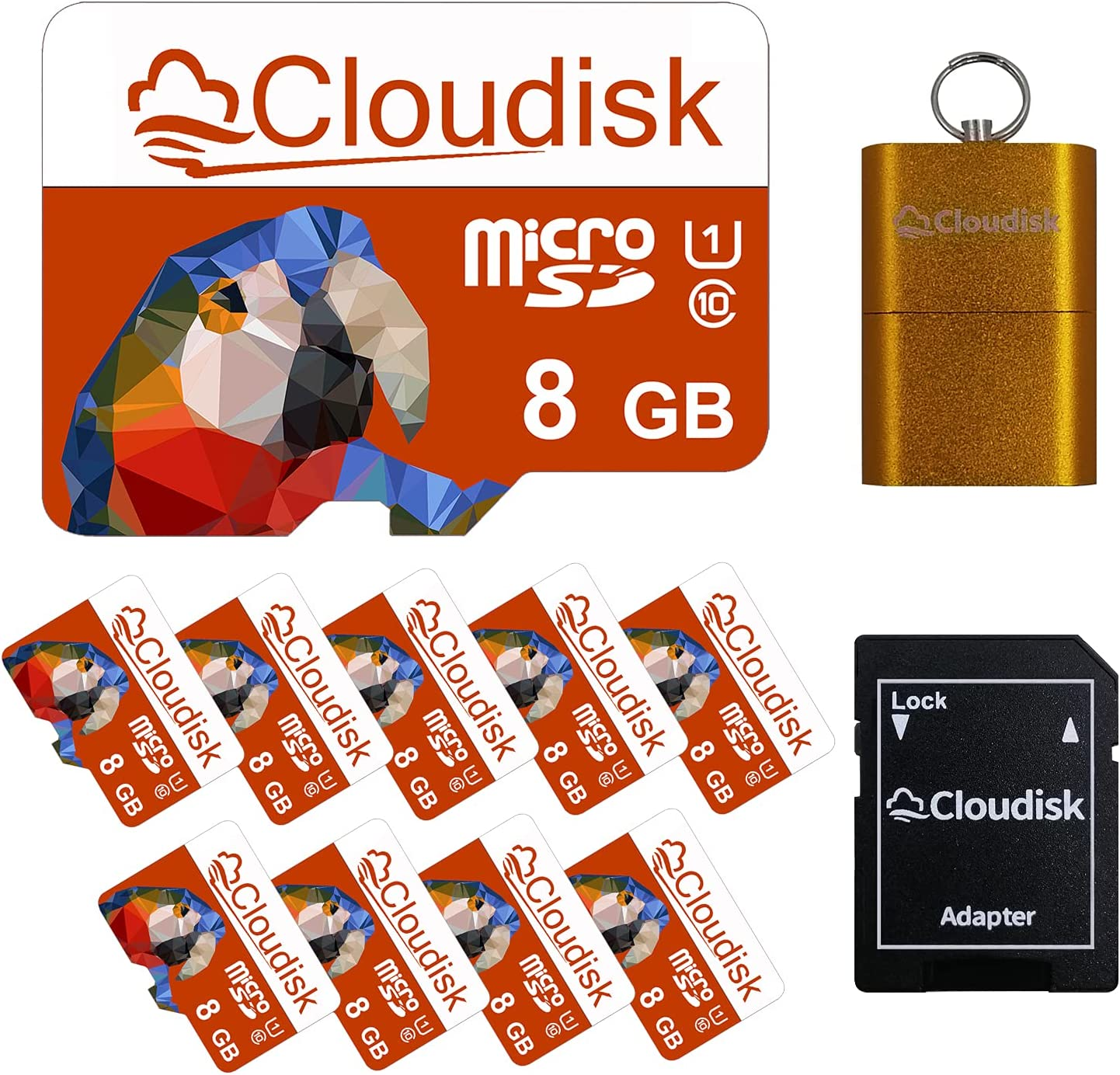 Cloudisk 10Pack 8GB Micro SD Card 8G Memory Card Class4 Wholesale