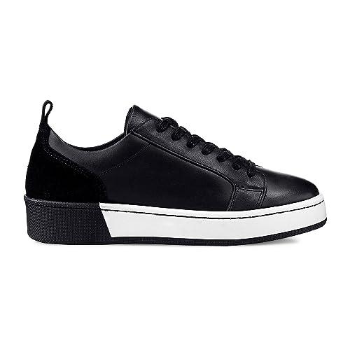 Cox Damen Damen Trend Sneaker aus Leder, Plateau Schuh in