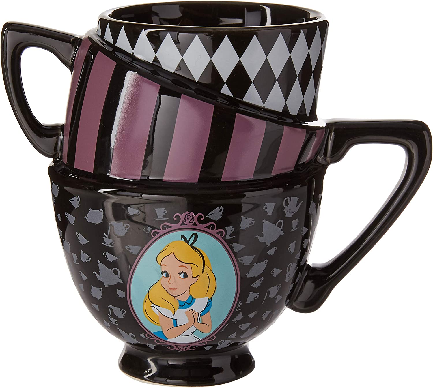 Silver Buffalo AW8295B Disney's Alice in Wonderland Sculpted Mug, Multicolor