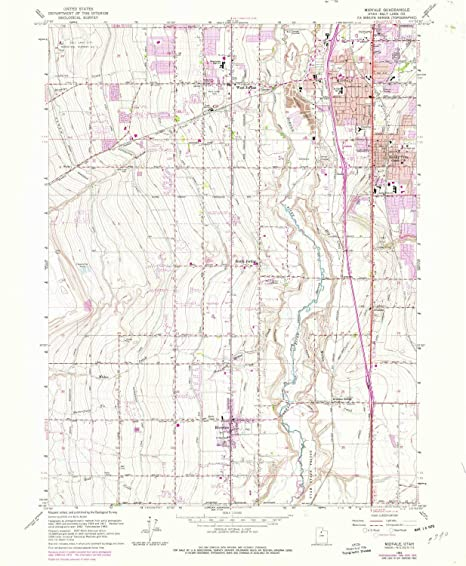 Amazon Com Yellowmaps Midvale Ut Topo Map 1 24000 Scale 7 5 X