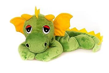 Habibi Plush - Dragón de peluche (cojín de calor apto para microondas), color amarillo y verde