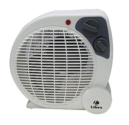 LIBRA 2000 Watt Portable Room Heater with Adjustable Thermostat(FH12,Grey)
