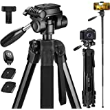 Victiv 72-inch Camera Tripod Aluminum Monopod T72 Max. Height 182 cm - Lightweight and Compact for Travel with 3-Way…