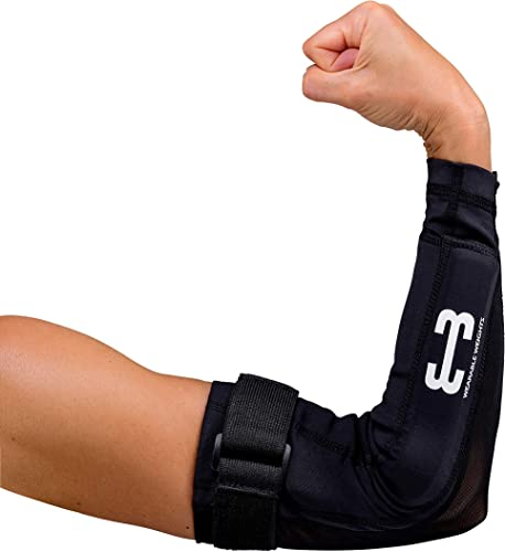 Wearable Weights Weighted Black Workout Compression Arm Sleeves