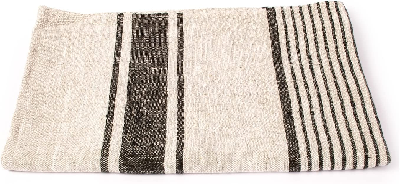 LinenMe Provence Bath Towel Black Striped