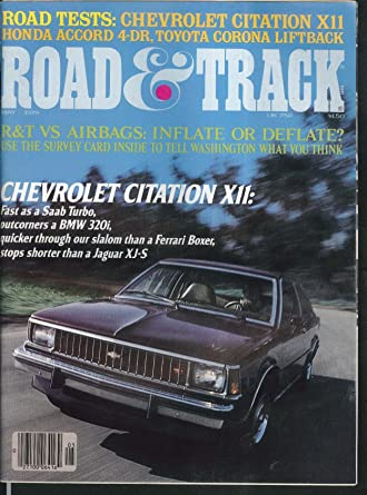 ROAD & TRACK Chevrolet Citation Toyota Corona Honda Accord road tests 5 1979