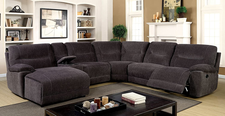 Amazon Com Esofastore Contemporary Sectional Sofa Recliner Chair