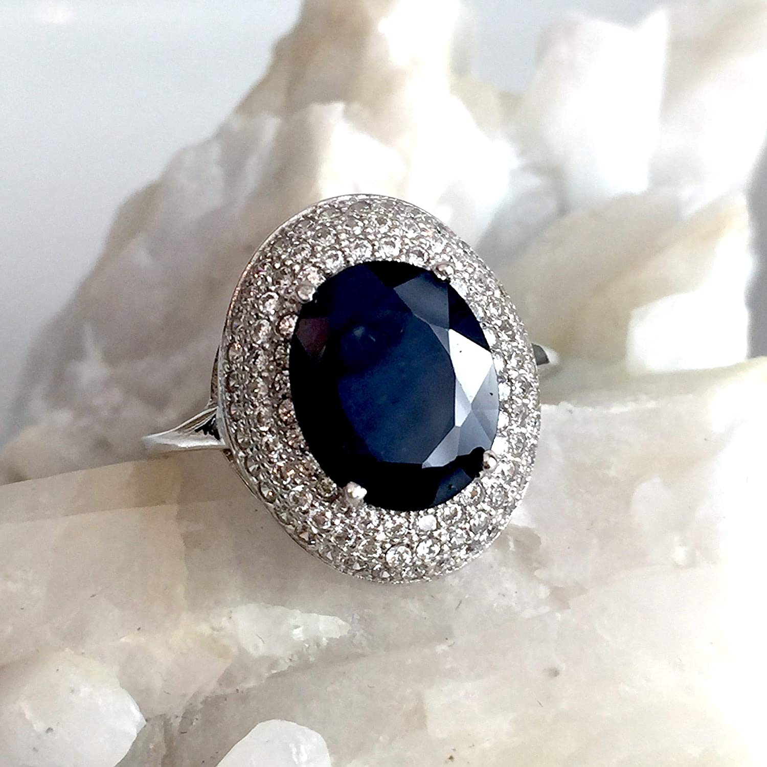 7CT Blue Sapphire /& Topaz 925 Solid Sterling Silver Ring Jewelry Sz 6,7,8 OC8