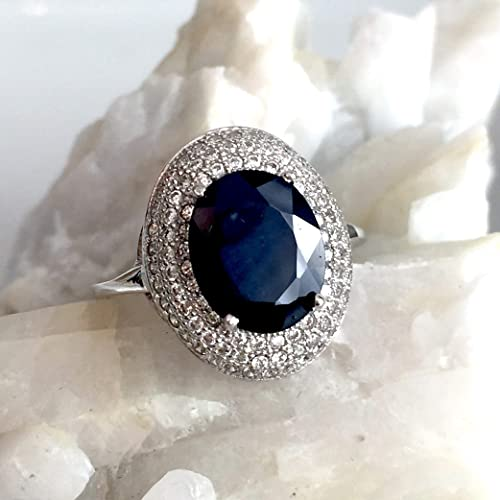 Blue Topaz Marquise Pendant 925 Sterling Silver Faceted Cut Gemstone Stone New