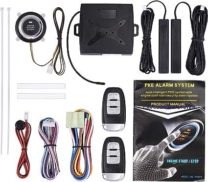 Universal Car Keyless Entry Engine Start Remote Starter Alarm System Push Button