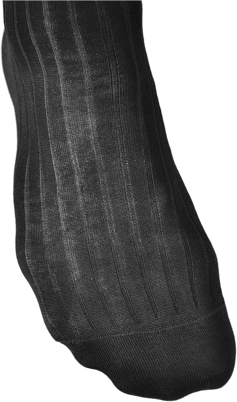 Habill/ées C/ôtel/ées /Él/égantes vitsocks Chaussettes Hautes Homme 100/% COTON MERCERIS/É Lot de 2