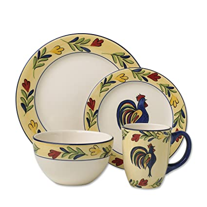 Pfaltzgraff Everyday Early Bird 16-Piece Dinnerware Set Service for 4  sc 1 st  Amazon.com & Amazon.com | Pfaltzgraff Everyday Early Bird 16-Piece Dinnerware Set ...