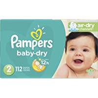 112-Ct Pampers Cruisers Baby Dry Diapers Size 2