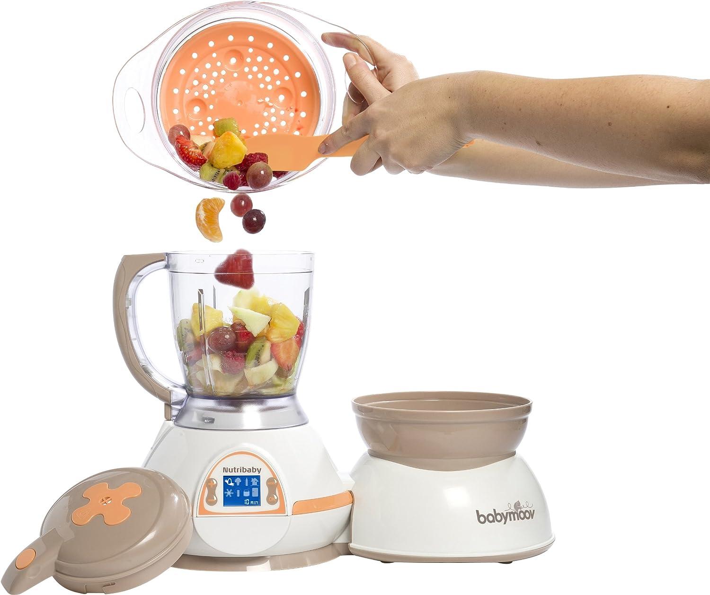 Babymoov Nutribaby Albaricoque - Robot de cocina 5 en 1 (calienta ...