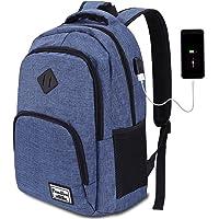 8 Farben Laptop Rucksack mit USB-Ladeanschluss für Arbeit Schule Reisen Camping