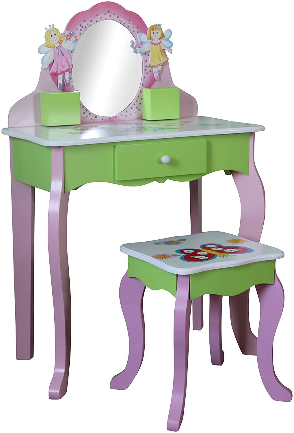 Liberty House Toys Butterfly Dressing Table and Stool, Pink LHT10090