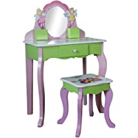 Liberty House Toys Butterfly Dressing Table and Stool, Pink