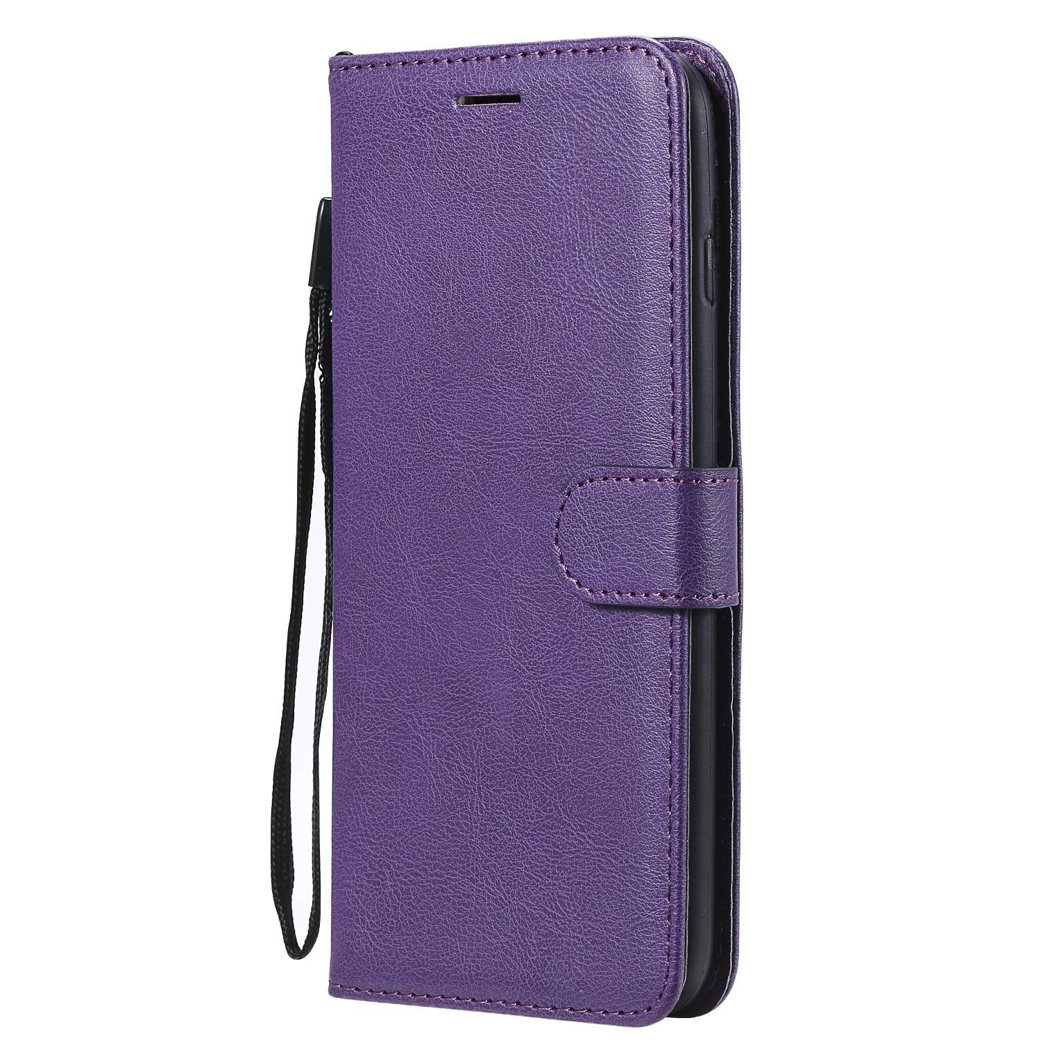 iPhone 8 Plus Case, AIIYG DS Classic Pure Color [Kickstand Feature] Flip Folio Leather Wallet Case with ID and Credit Card Pockets for Apple iPhone 7/8 Plus 5.5 inch Purple