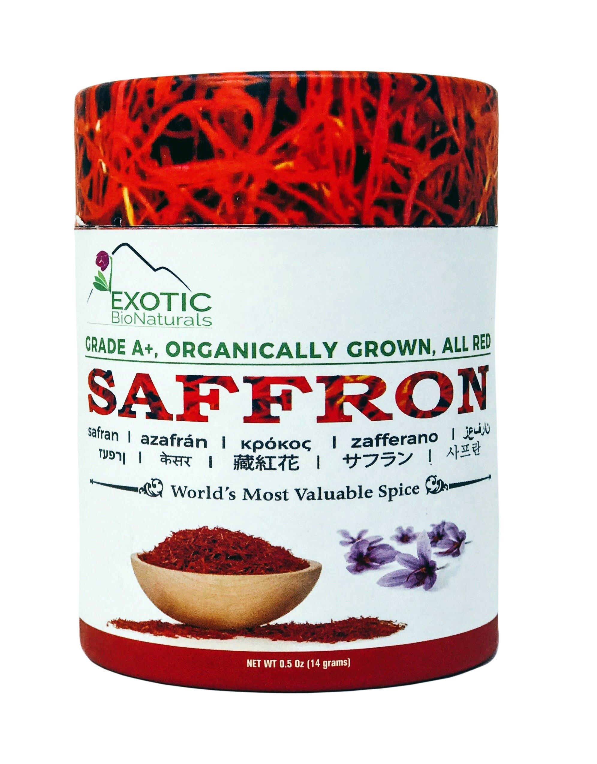 Genuine Grade A+, Premium Quality All Red,Organically Grown SUPER NEGIN Saffron (0.5 Oz -14 Grams)