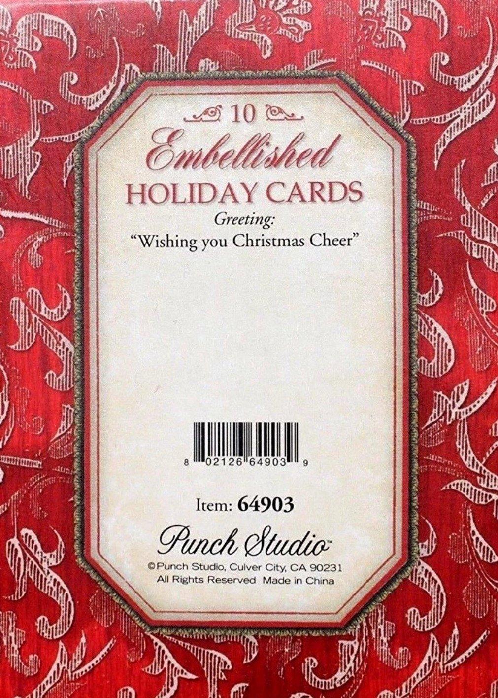 Amazon.com : Punch Studio Boxed Set of 10 3D Embellised Cards ...